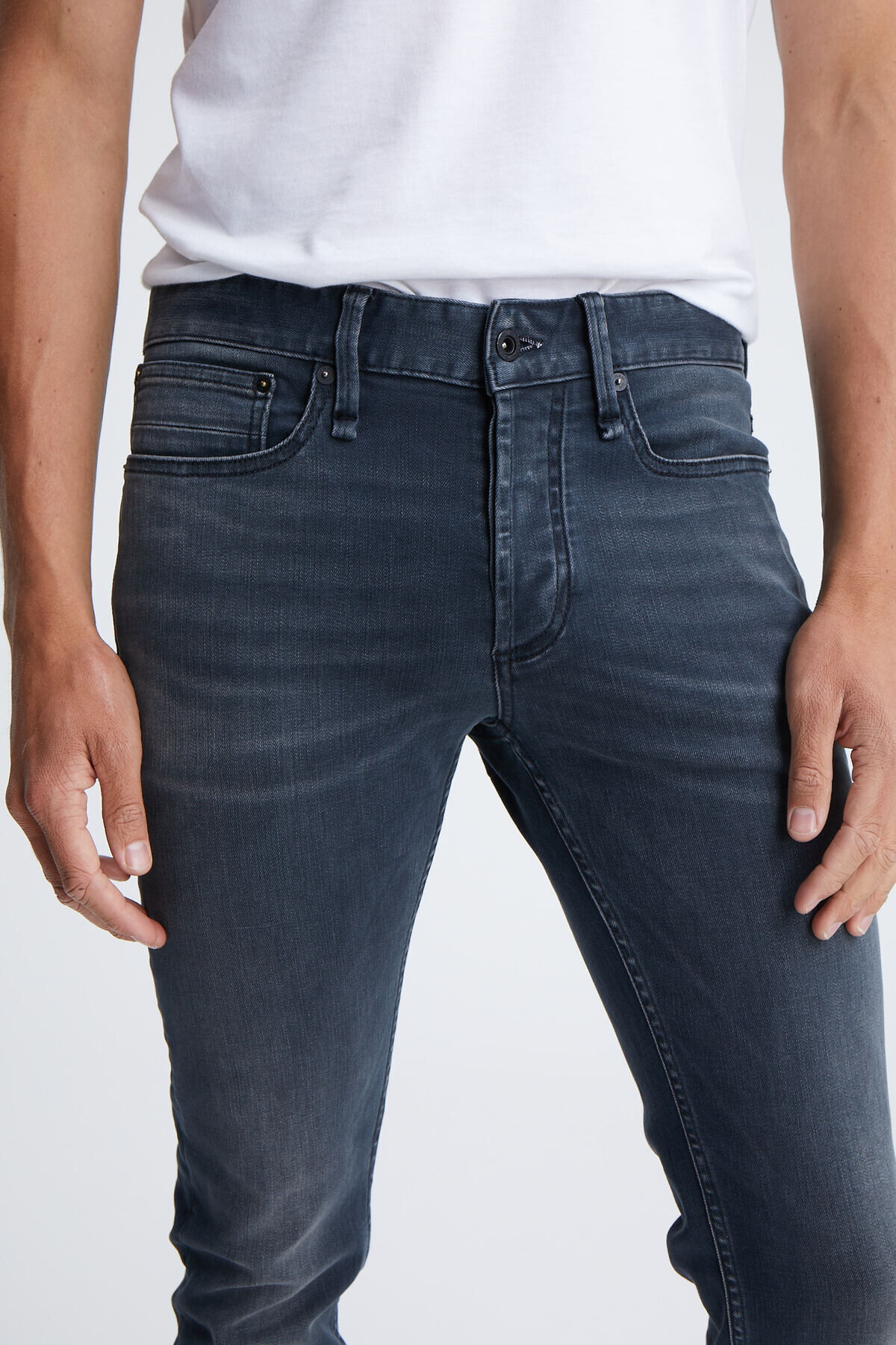 BOLT Black Faded Denim - Skinny Fit
