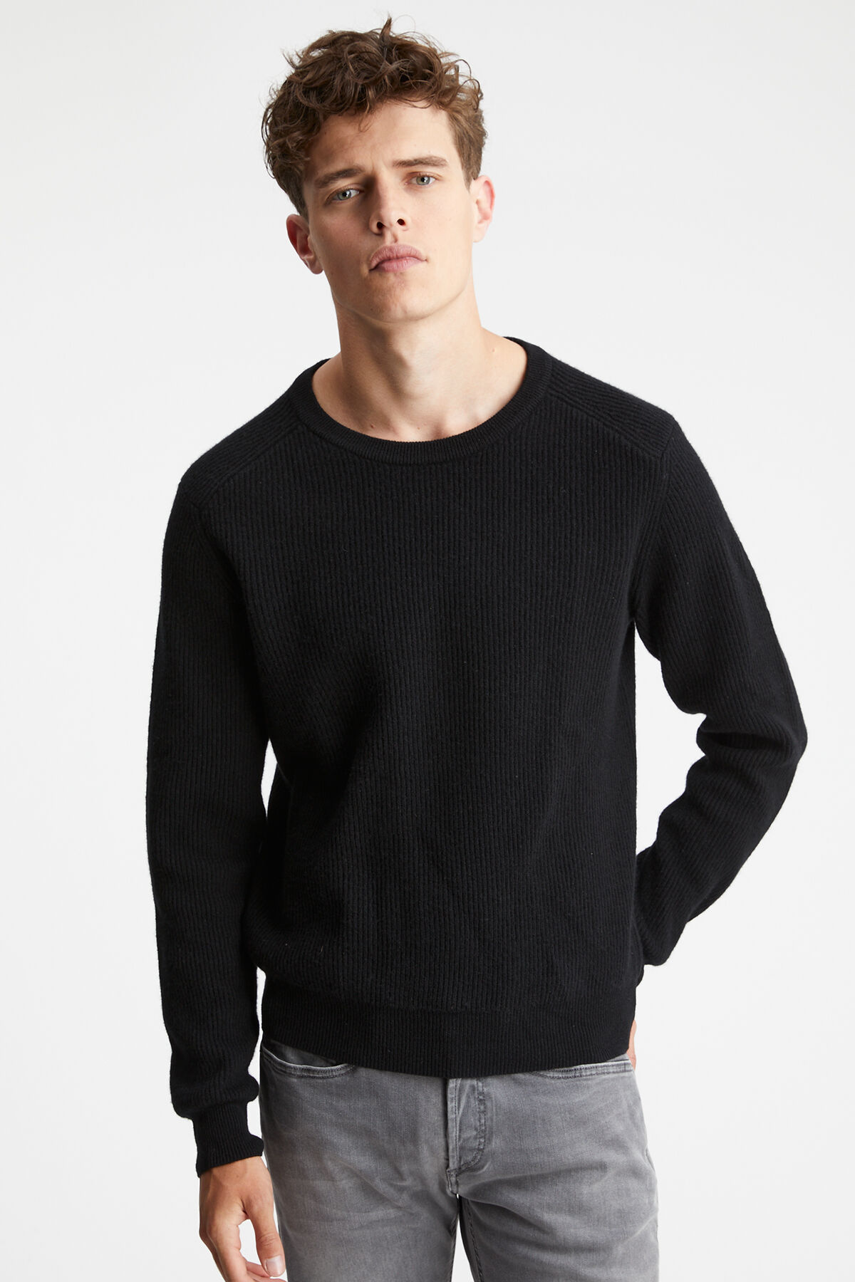 CHELSEA CREW Wool & Cashmere Blend - Regular Fit