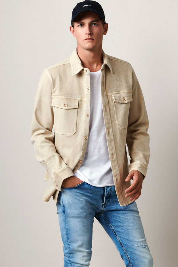 BURTON OVERSHIRT Stretch Cotton Twill - Oversized Fit