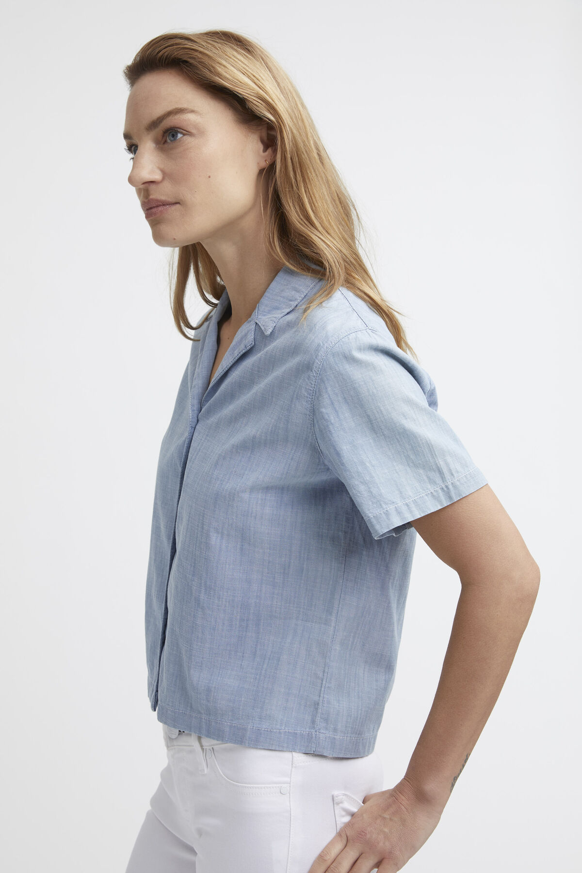 HESSEL SHIRT Cotton Chambray - Slim Fit