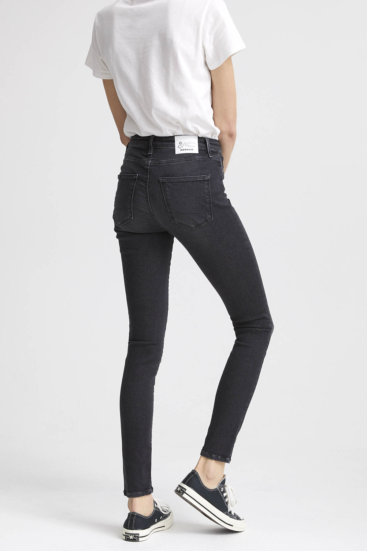 NEEDLE Indigo Dipped Denim - High-rise, Skinny Fit