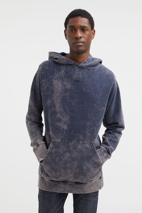 DENHAM LOGO HOODY Soft Cotton Fleece - Boxy Fit