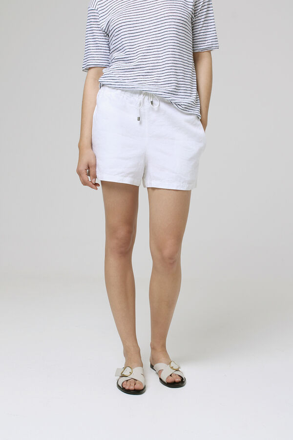 SHORE SHORT Pure linen - Regular Fit