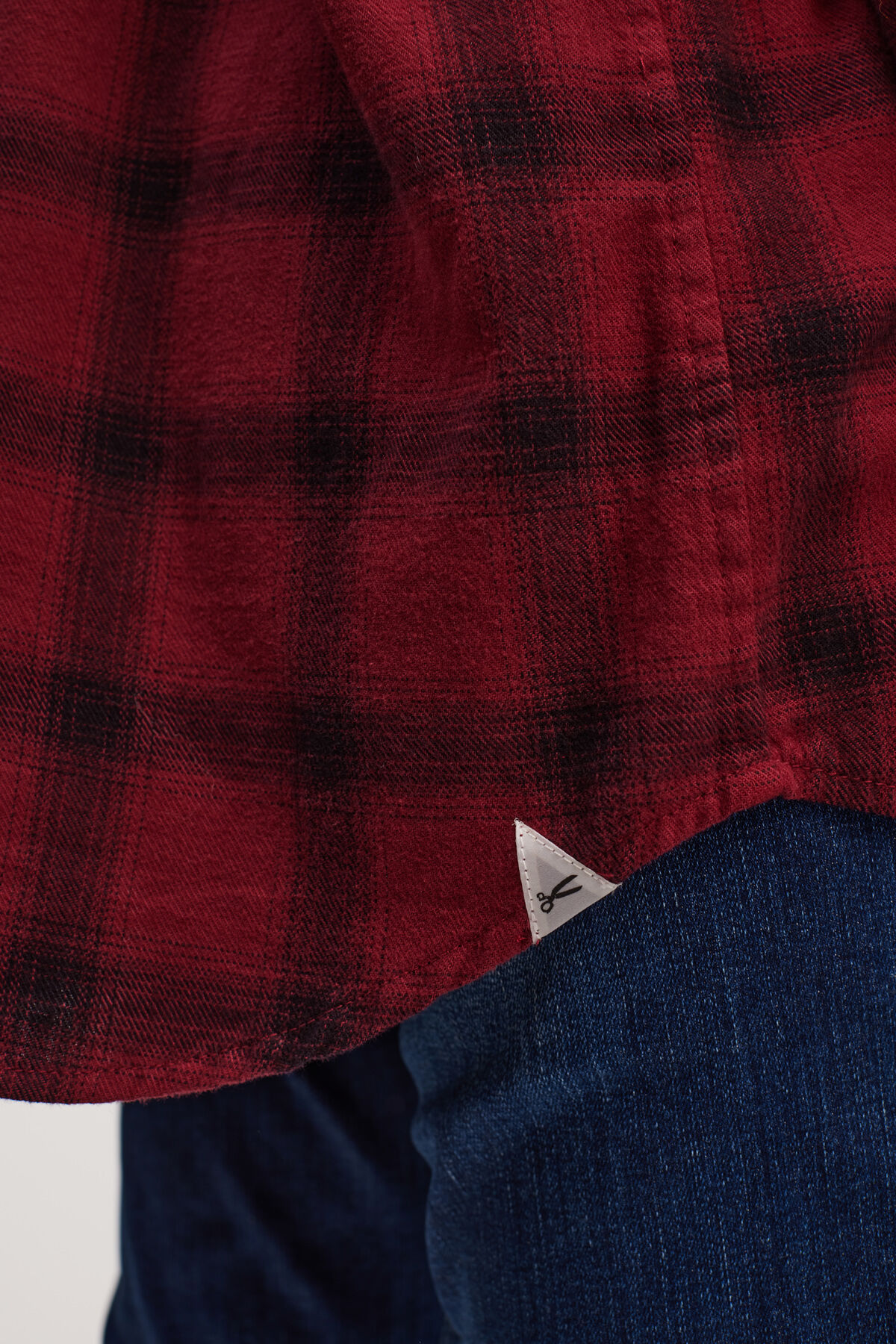 OLIVIA SHIRT Shadow Check Cotton - Oversized Fit