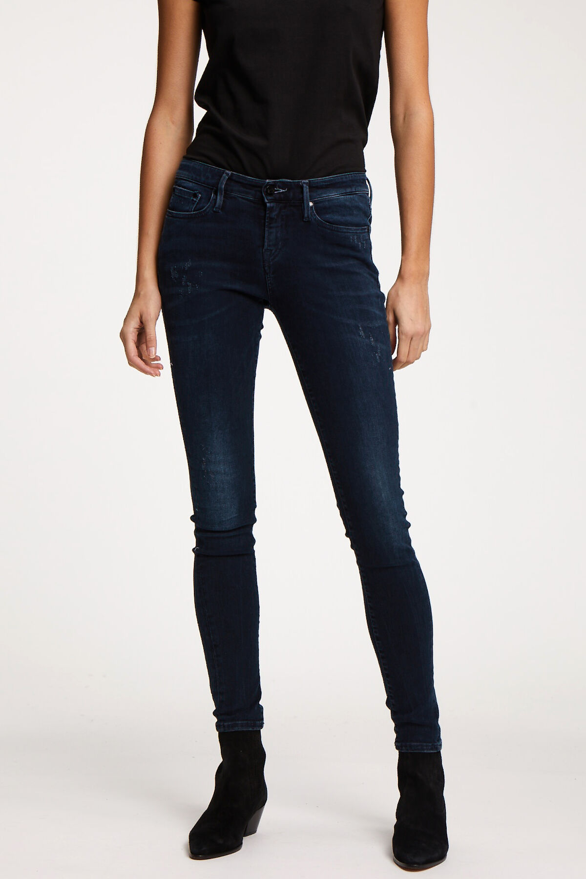 SHARP Dark Indigo Denim - Mid-rise, Skinny Fit