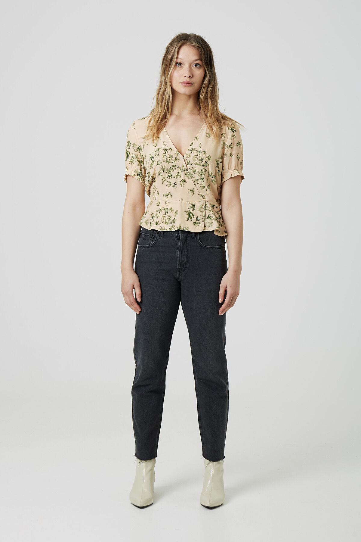 THELMA TOP Cupro blend - Slim Fit