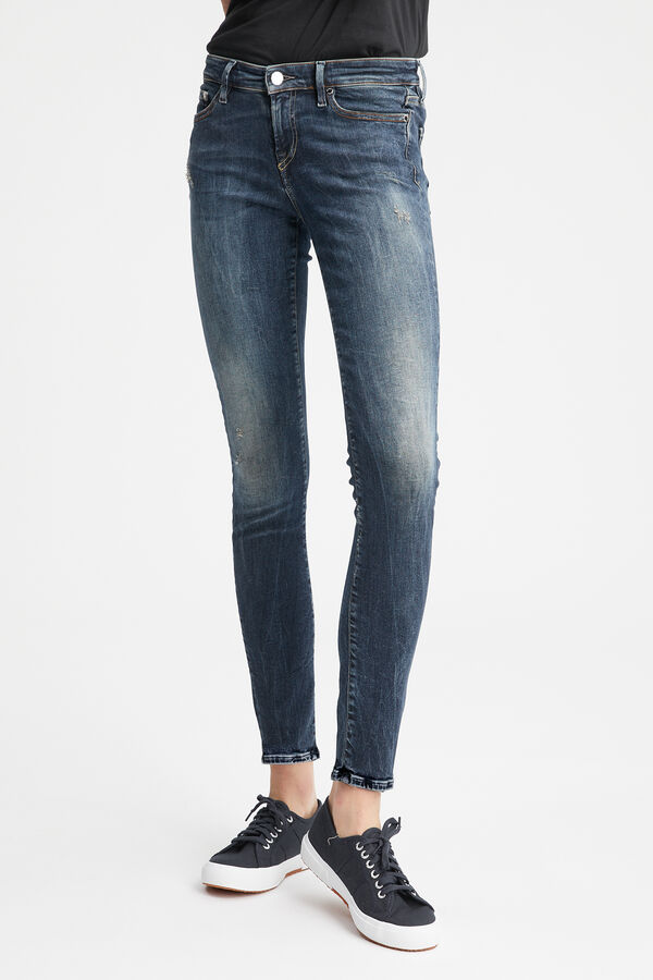 SPRAY Indigo Rip & Repair Denim - Mid-Rise, Tight Fit