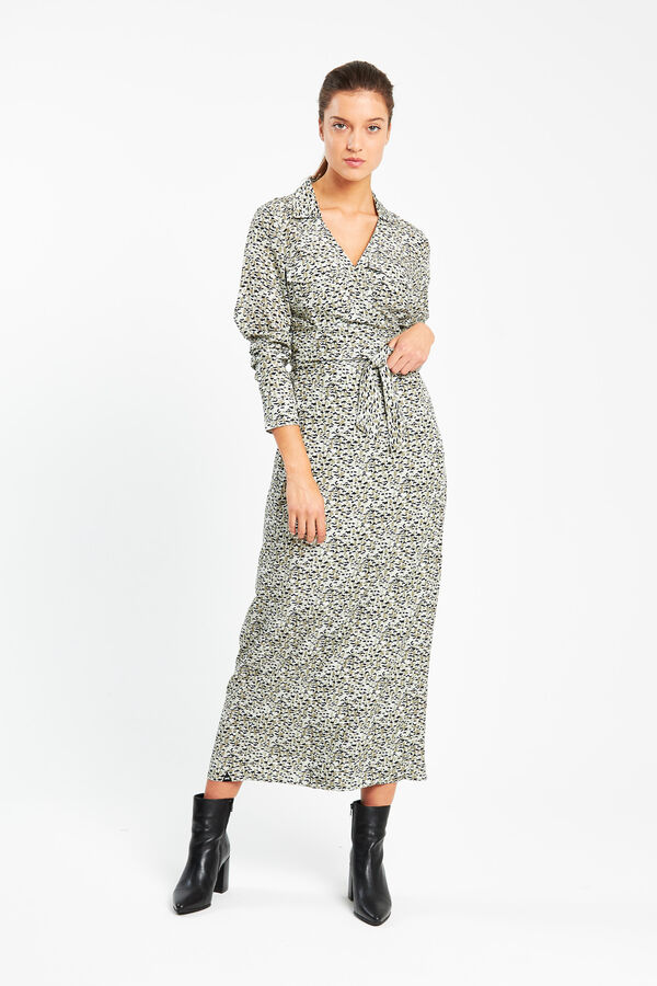 SARU WRAP DRESS Essential Cupro - Midi