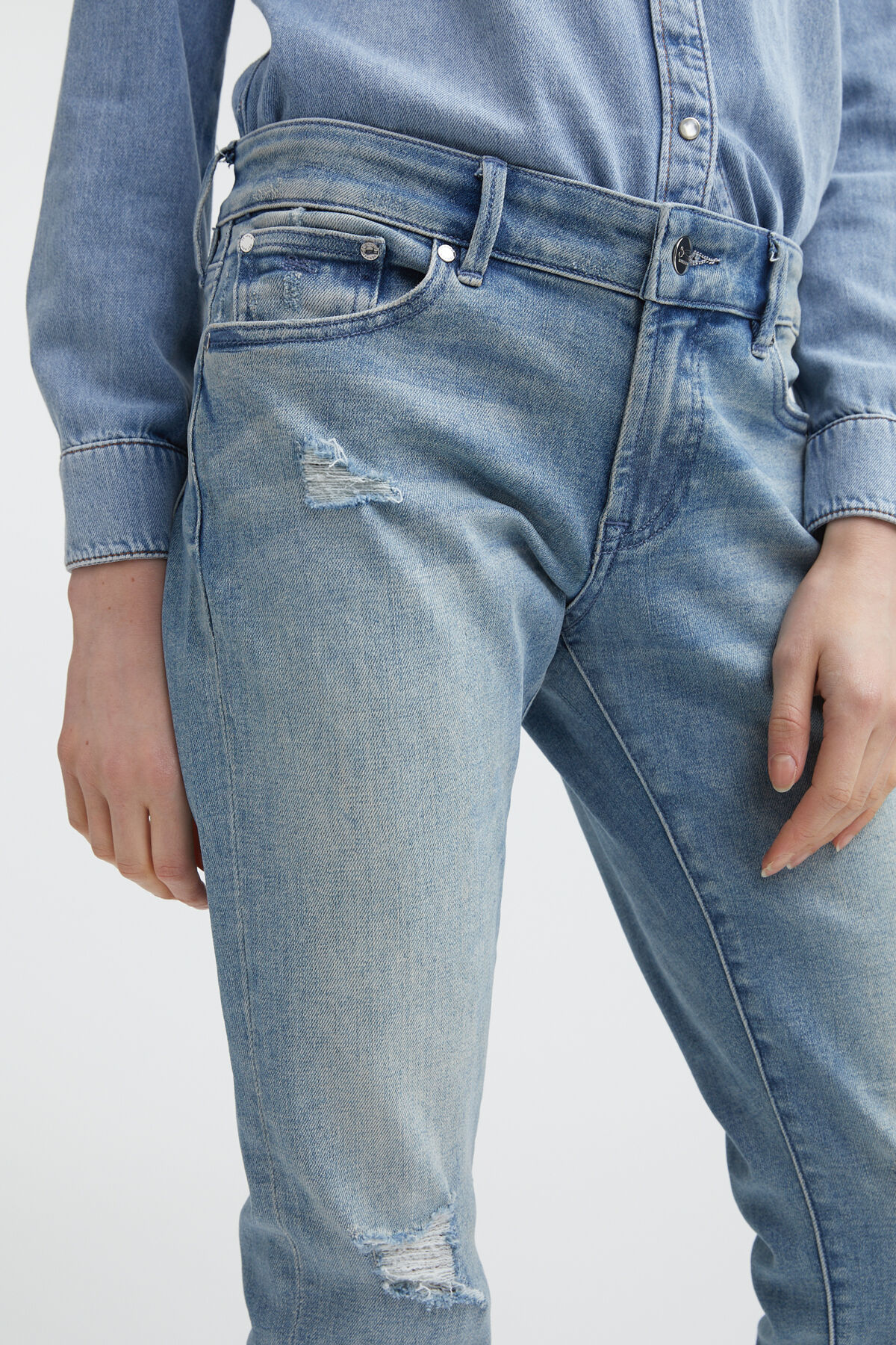 MONROE Ripped & Repaired Denim - Girlfriend Fit
