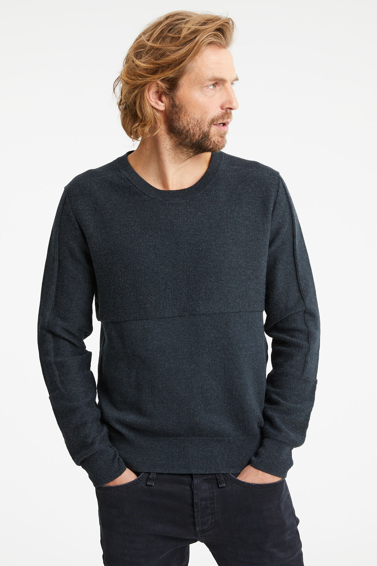 CLARENCE CREW Cotton & Wool Blend - Regular Fit