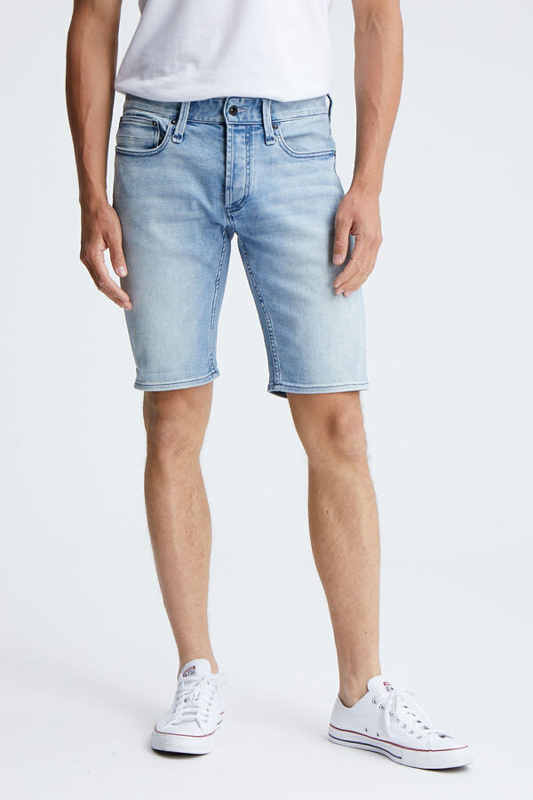RAZOR SHORT Classic Indigo Rip & Repair Denim - Slim Fit