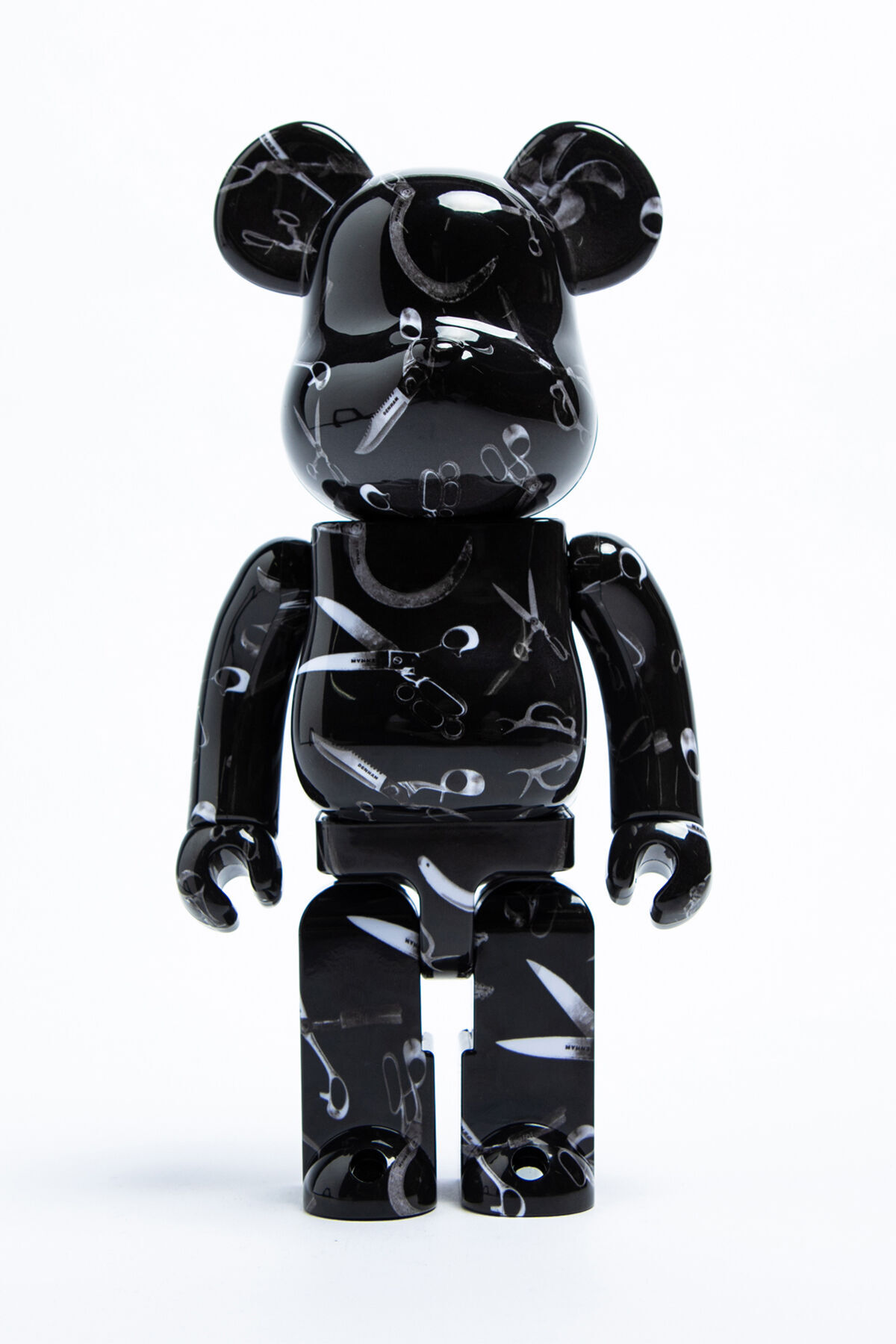 BEARBRICK LARGE Scissor All-Over Print Collectible