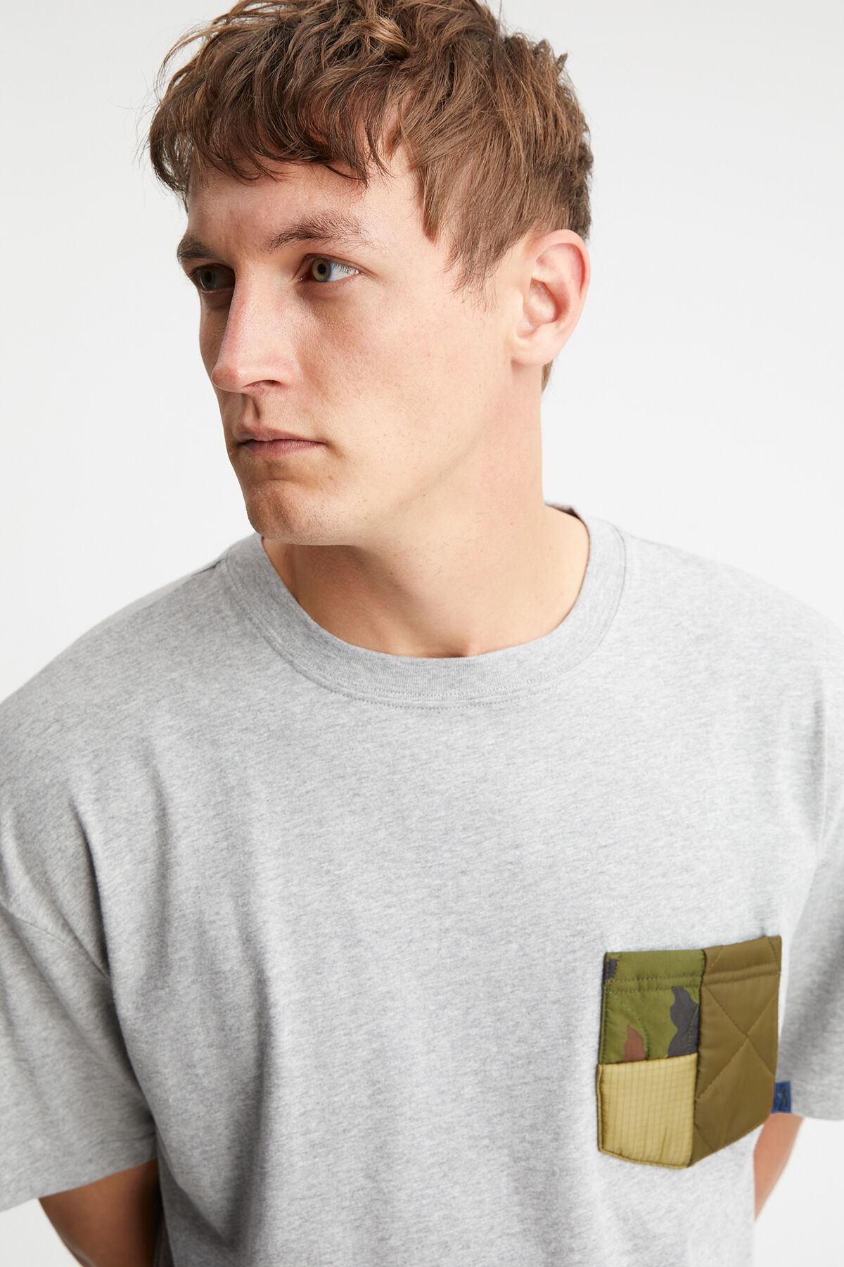 LINCOLN TEE RE-CUT Patchwork pocket - Boxy Fit