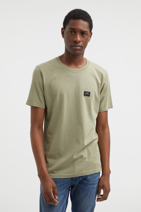DENHAM APPLIQUE TEE Cotton Jersey - Slim Fit