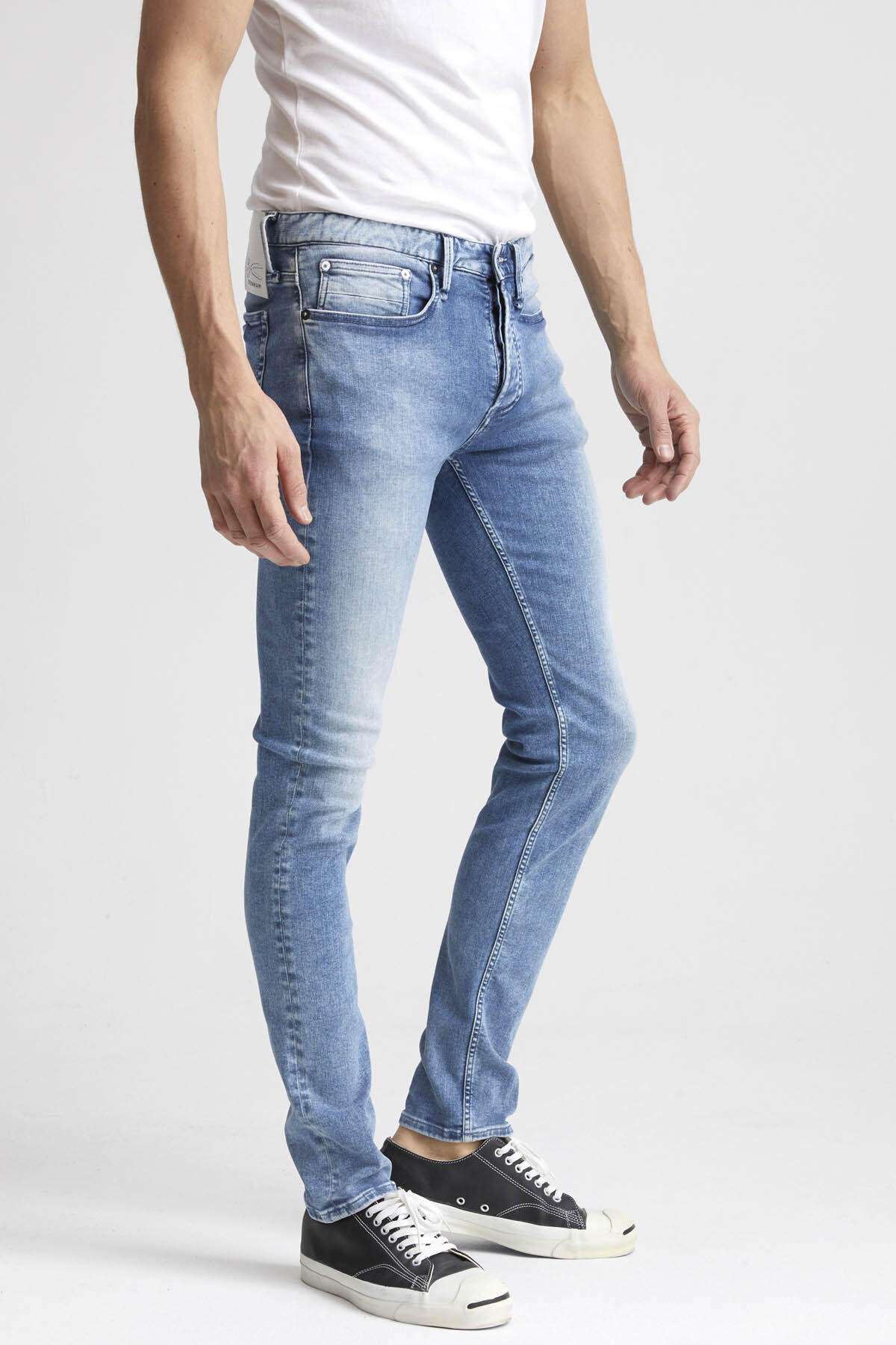 BOLT Sun-faded Indigo Denim - Skinny Fit