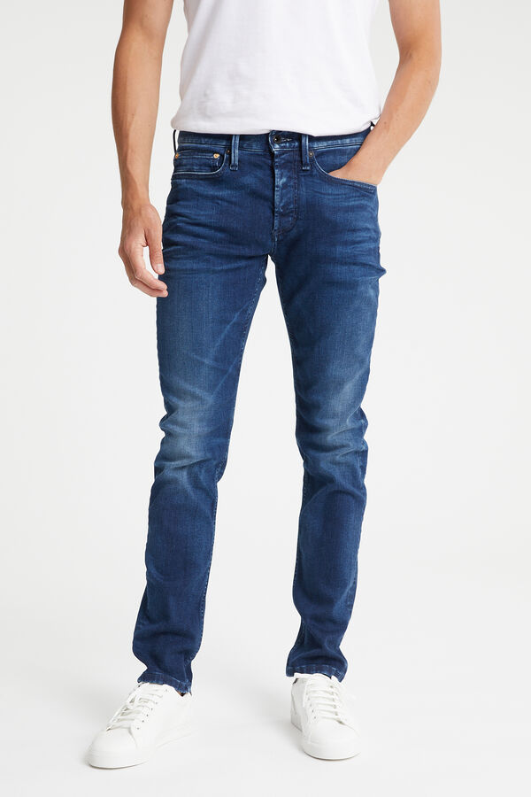 BOLT Soft Brushed Indigo Denim - Skinny Fit