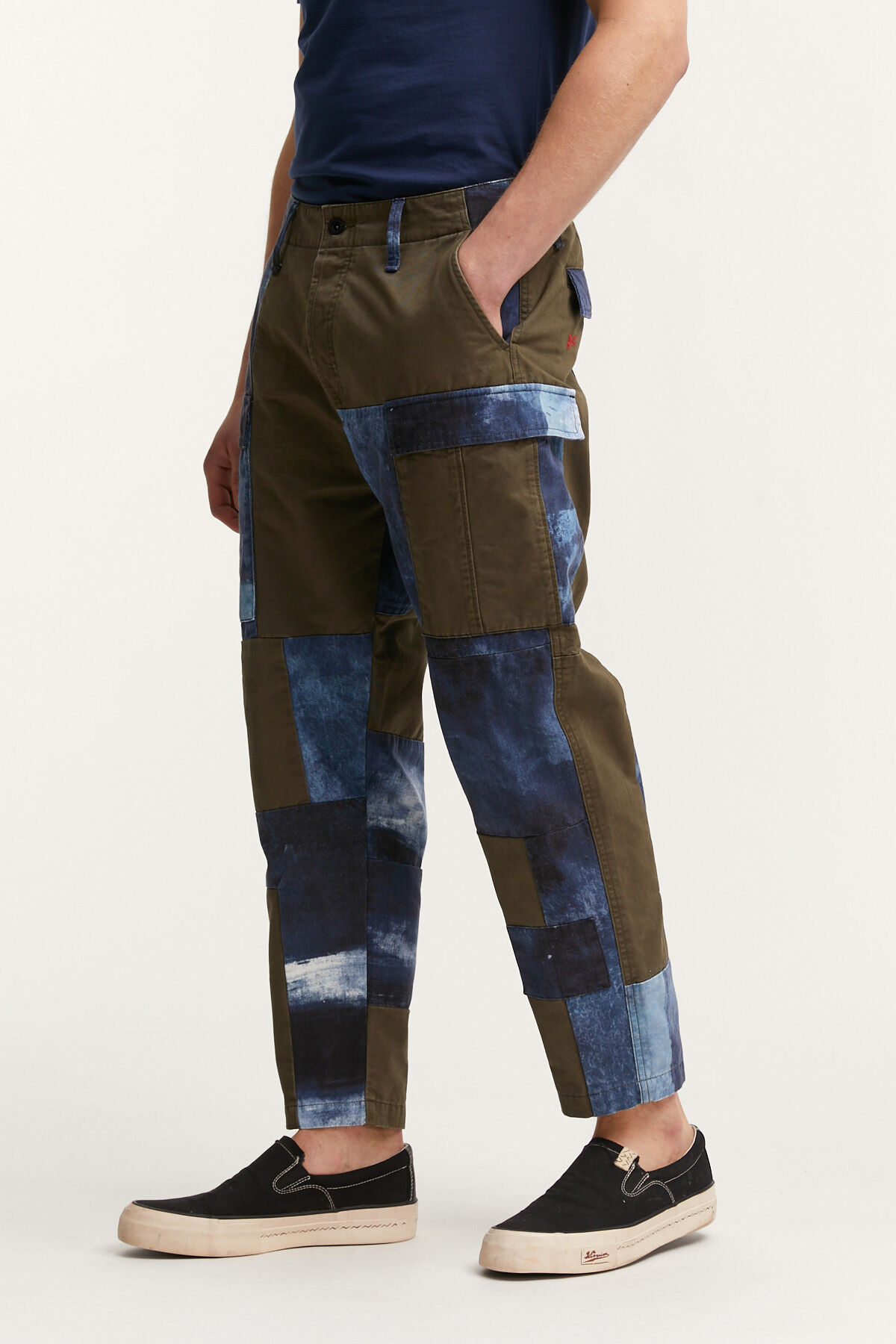 PATCHWORK PANT Digitally Printed Cotton - Regular Fit