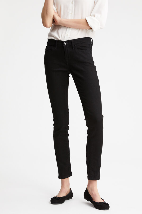 SHARP Black low impact wash - Mid-rise Skinny Fit