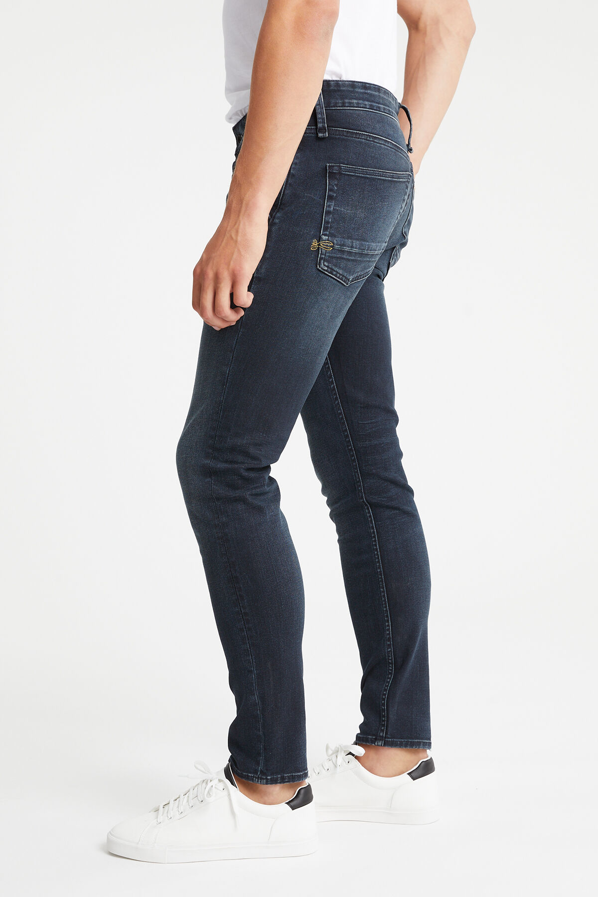 YORK Soft brushed, Blue-black Denim - Slim, tapered Fit