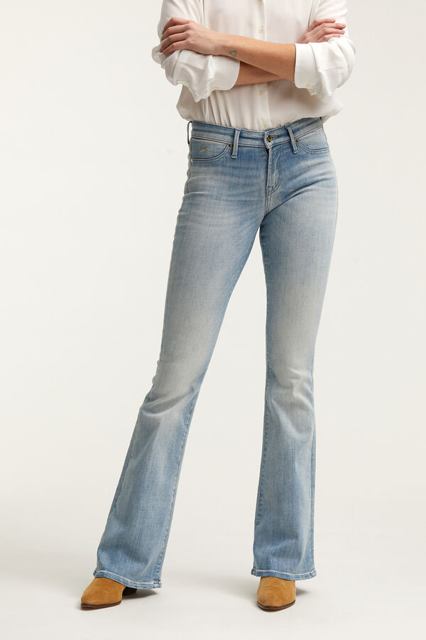 FARRAH Fresh Blue Denim - Flare Fit