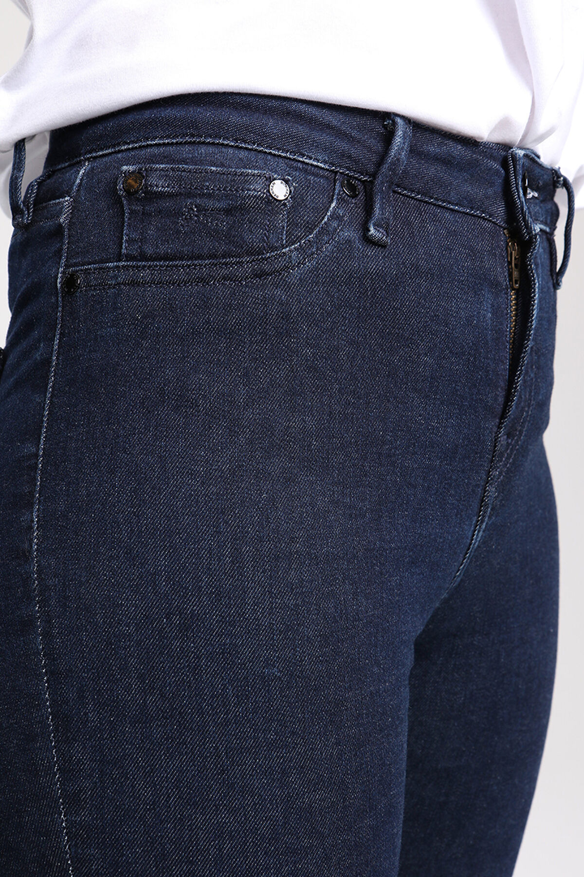 NEEDLE Indigo Dipped 18 Times Denim - High-rise, Skinny Fit