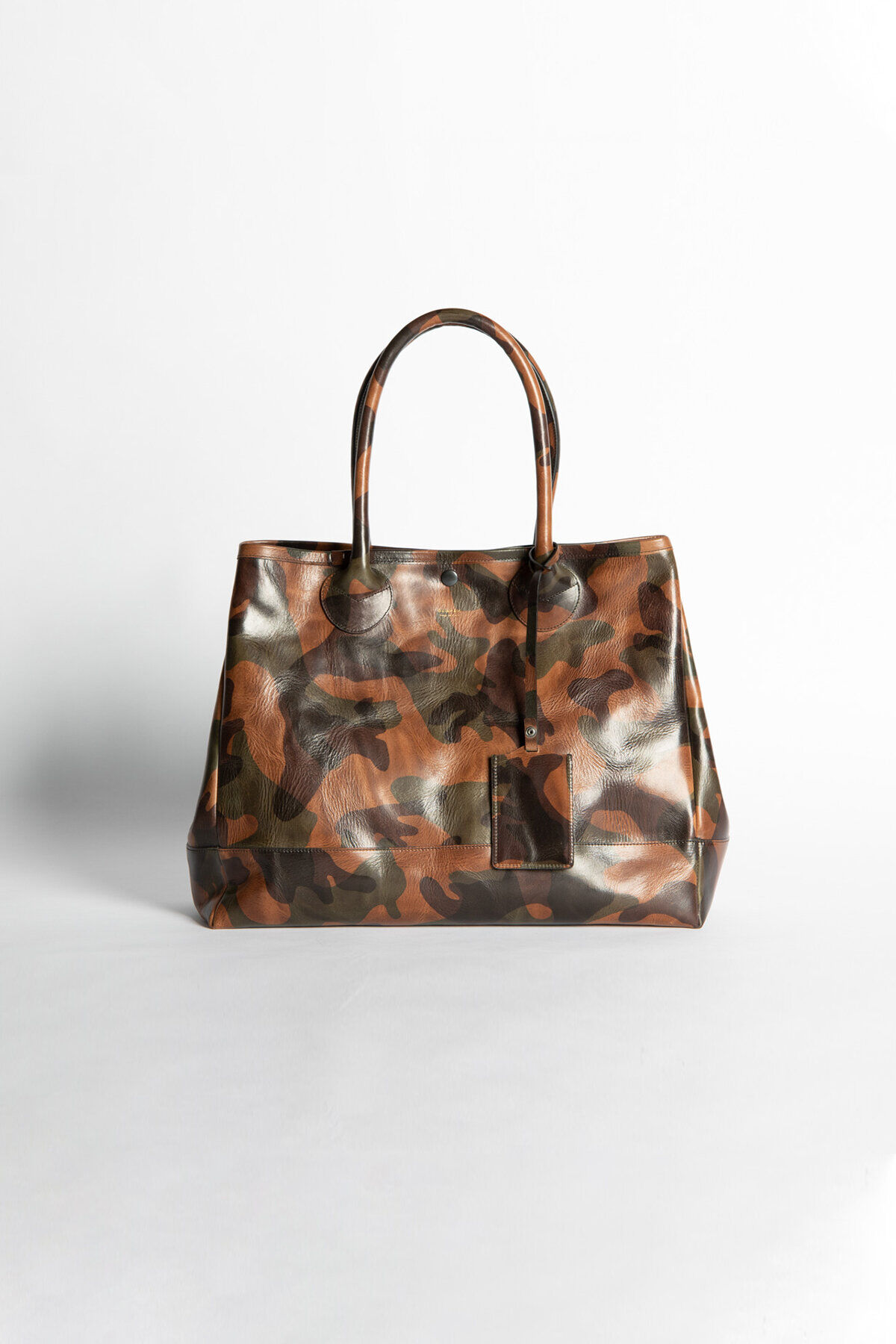 LARGE TOTE BAG Camo Laser Print Leather