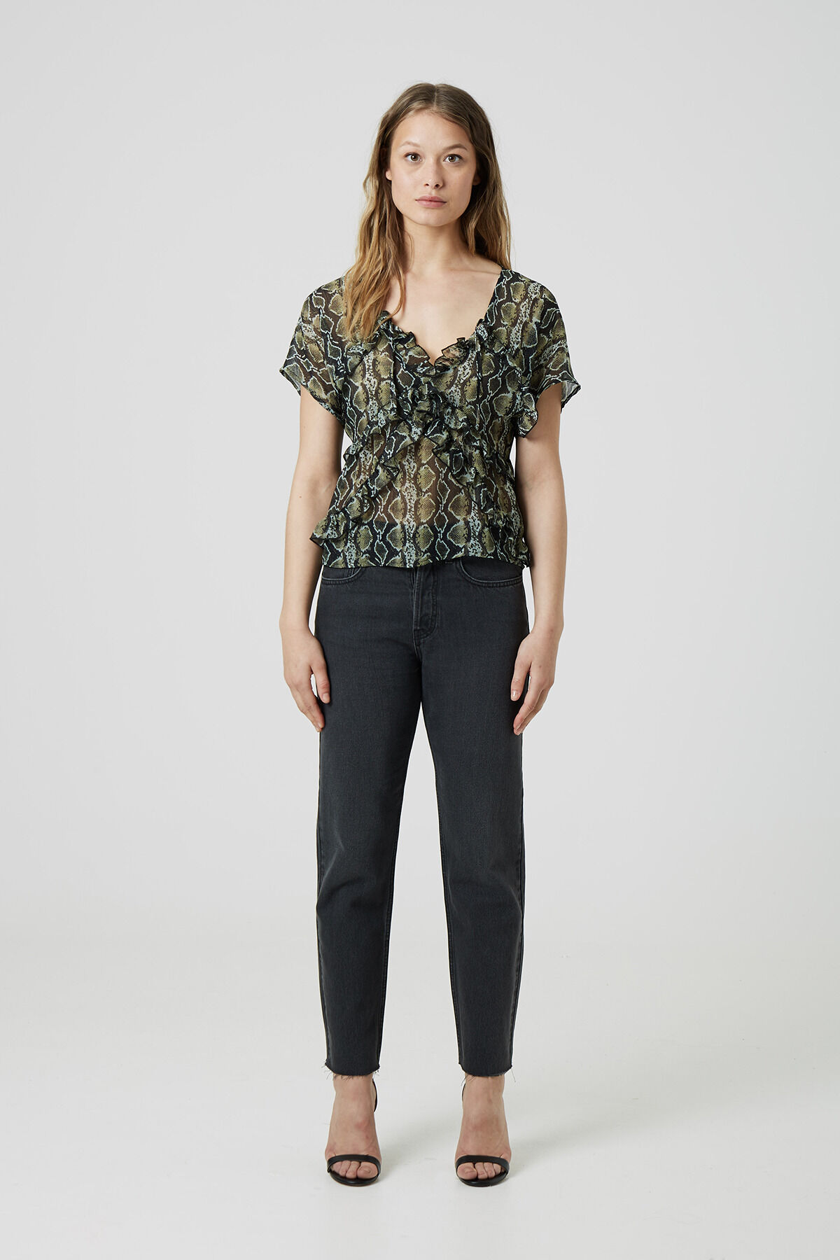 MADISON JEAN Pure cotton denim - High-rise, Slim Fit