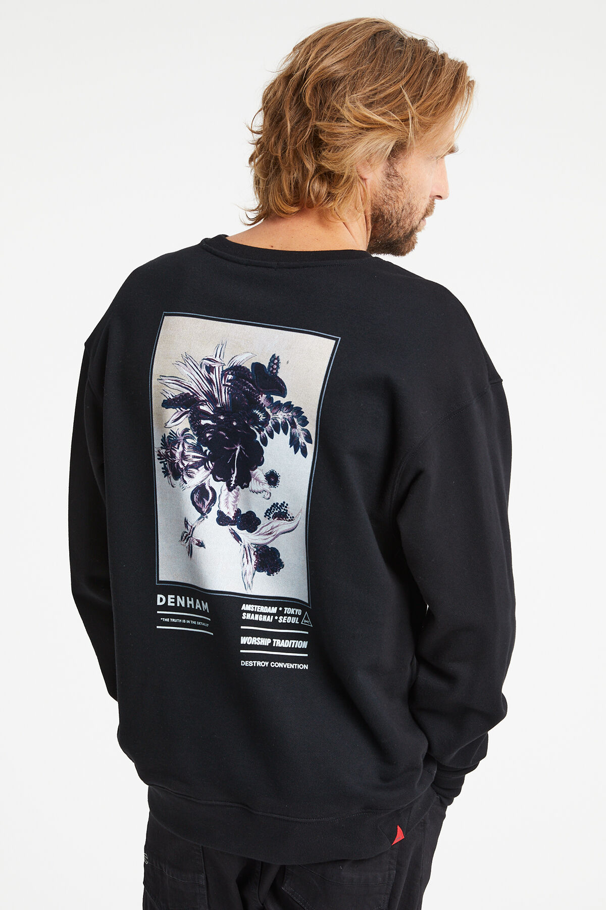 THURMAN SWEAT Hibiscus screen print - Regular Fit