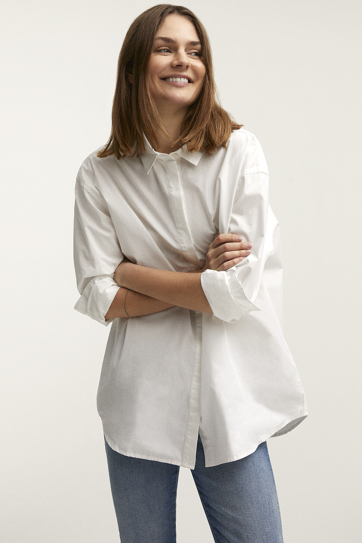OLIVIA SHIRT Compact Poplin - Oversized Fit