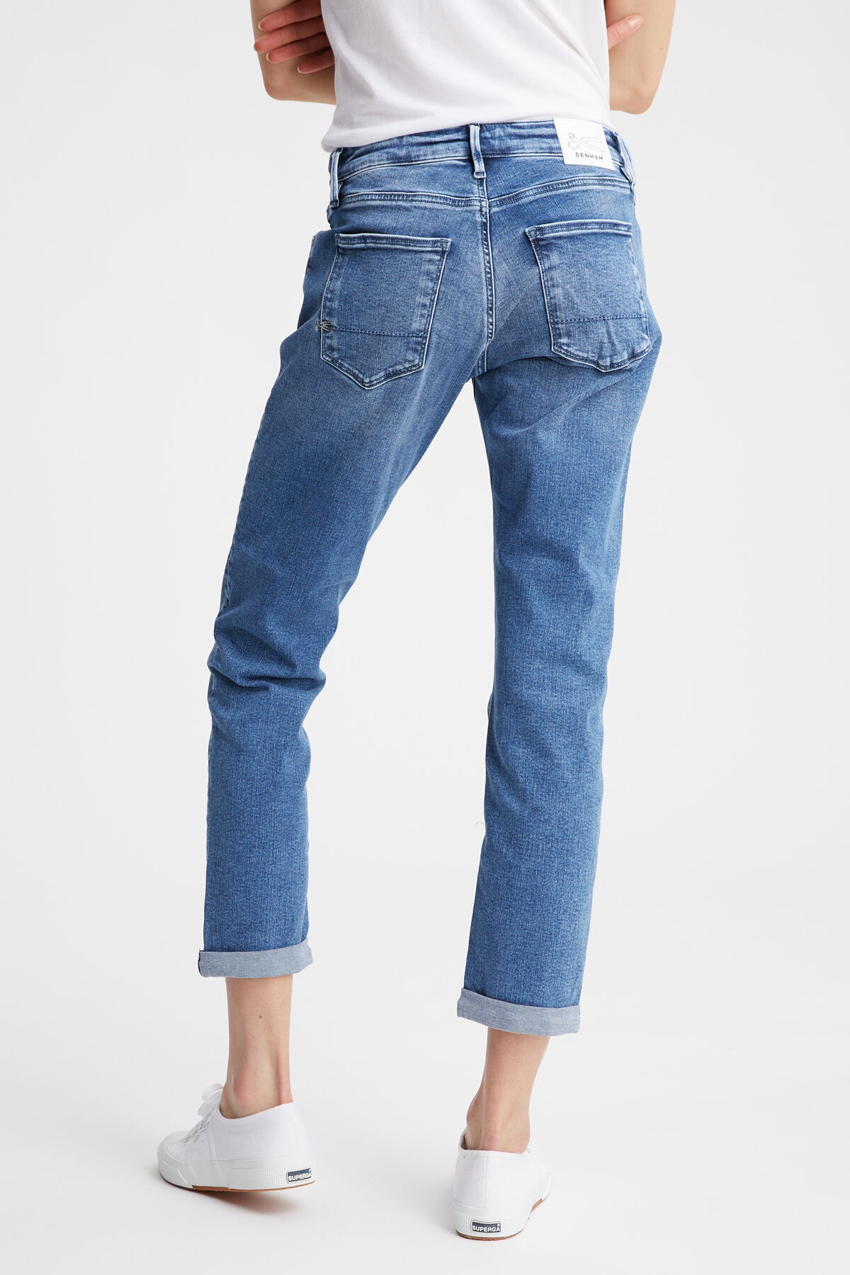 MONROE Heavy Fade Denim - Girlfriend Fit