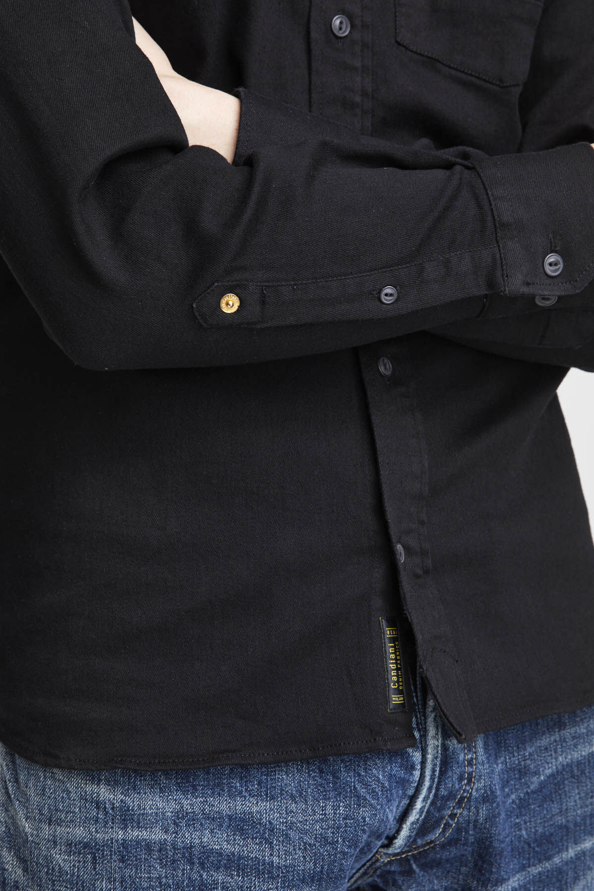 AXEL SHIRT Black Spilt Yoke - Slim Fit