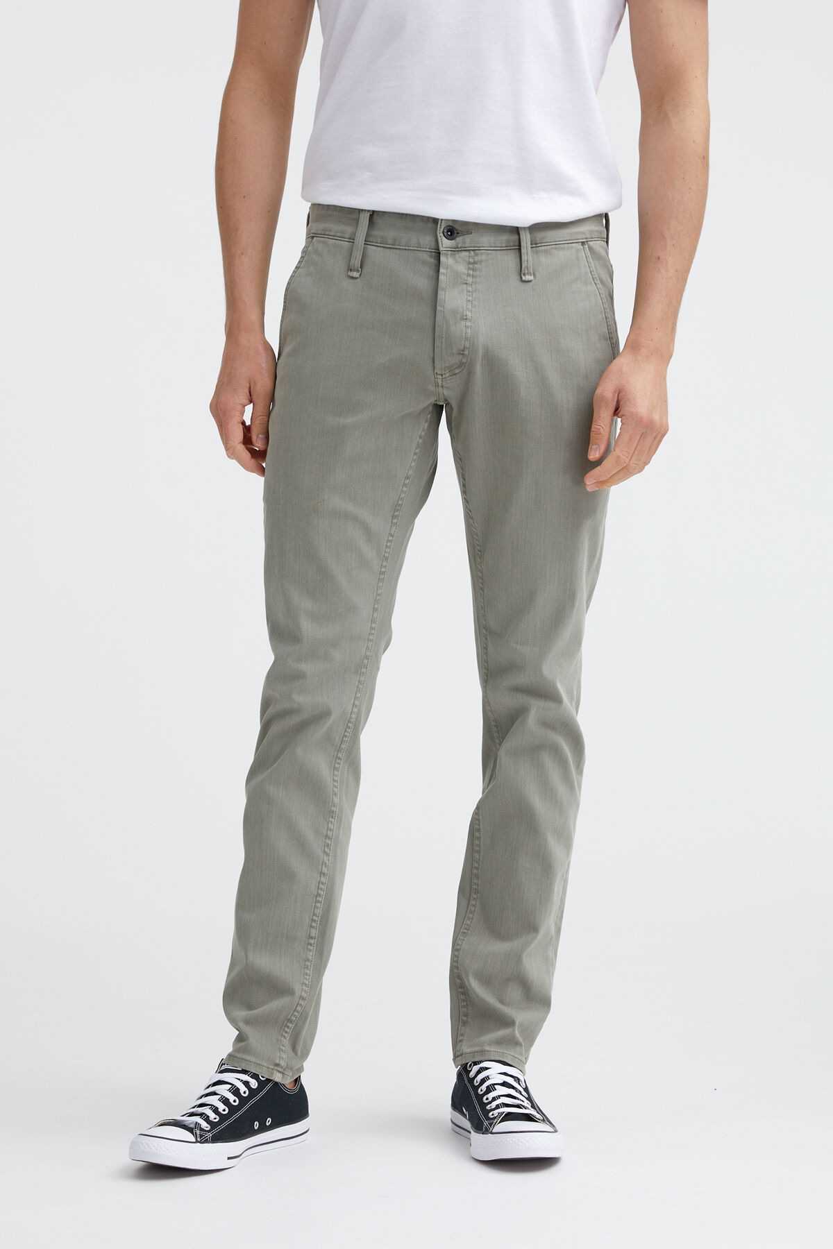 YORK Cotton & Tencel Blend Chino - Slim, Tapered Fit
