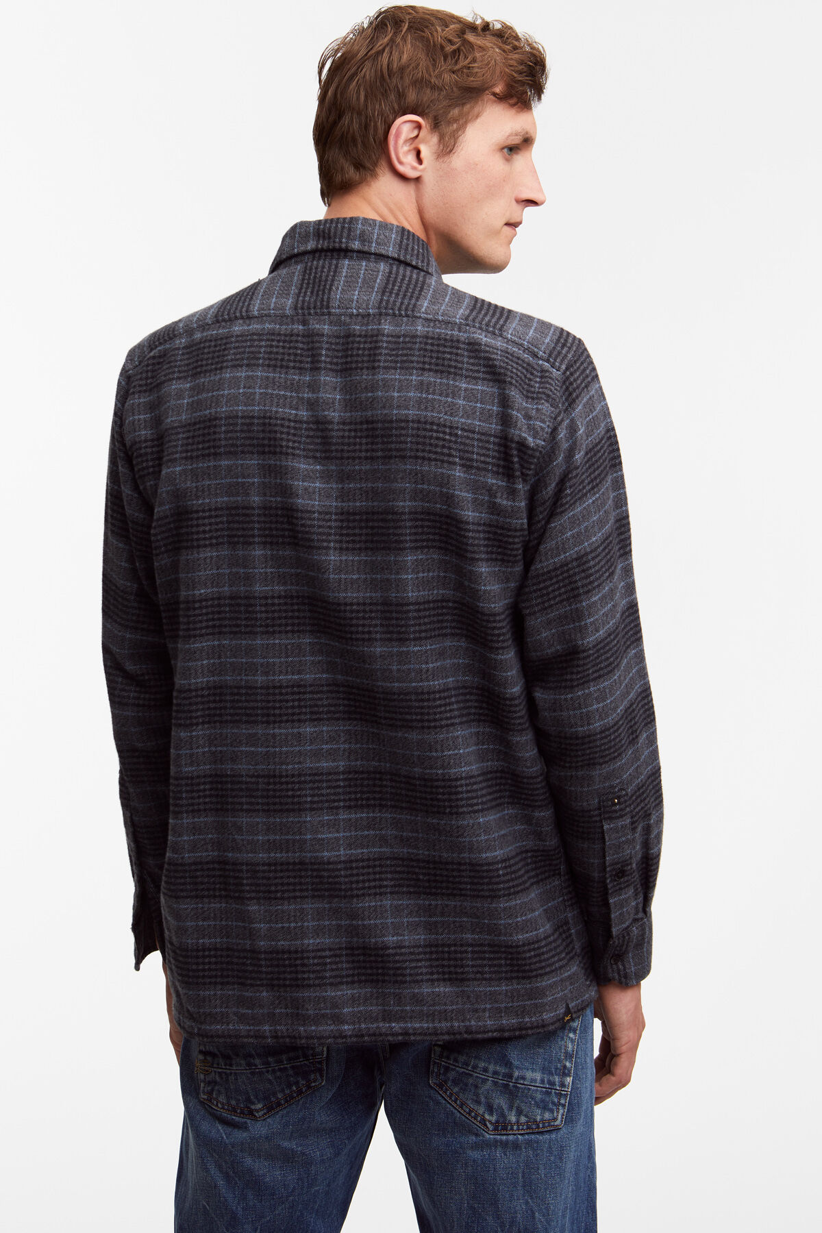 MILITARY CANNON Soft Check Pattern - Boxy Fit