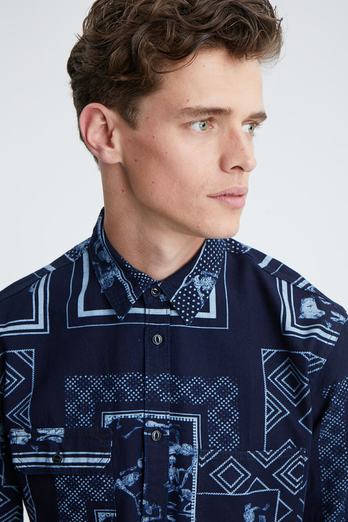 LINCOLN SHIRT Double-Dyed Indigo - Regular Fit