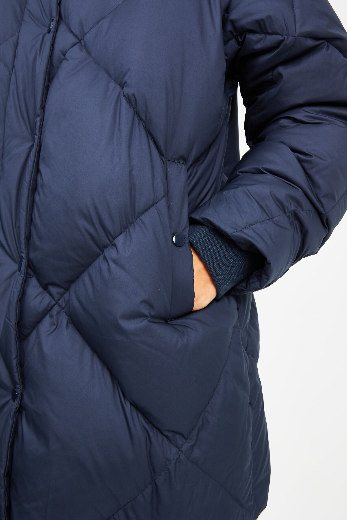 IKEDA PARKA JDF Down Diamond-Quilted - Oversized Fit