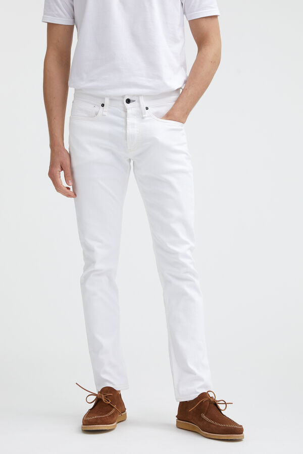 RAZOR Pure White Finish Denim - Slim Fit