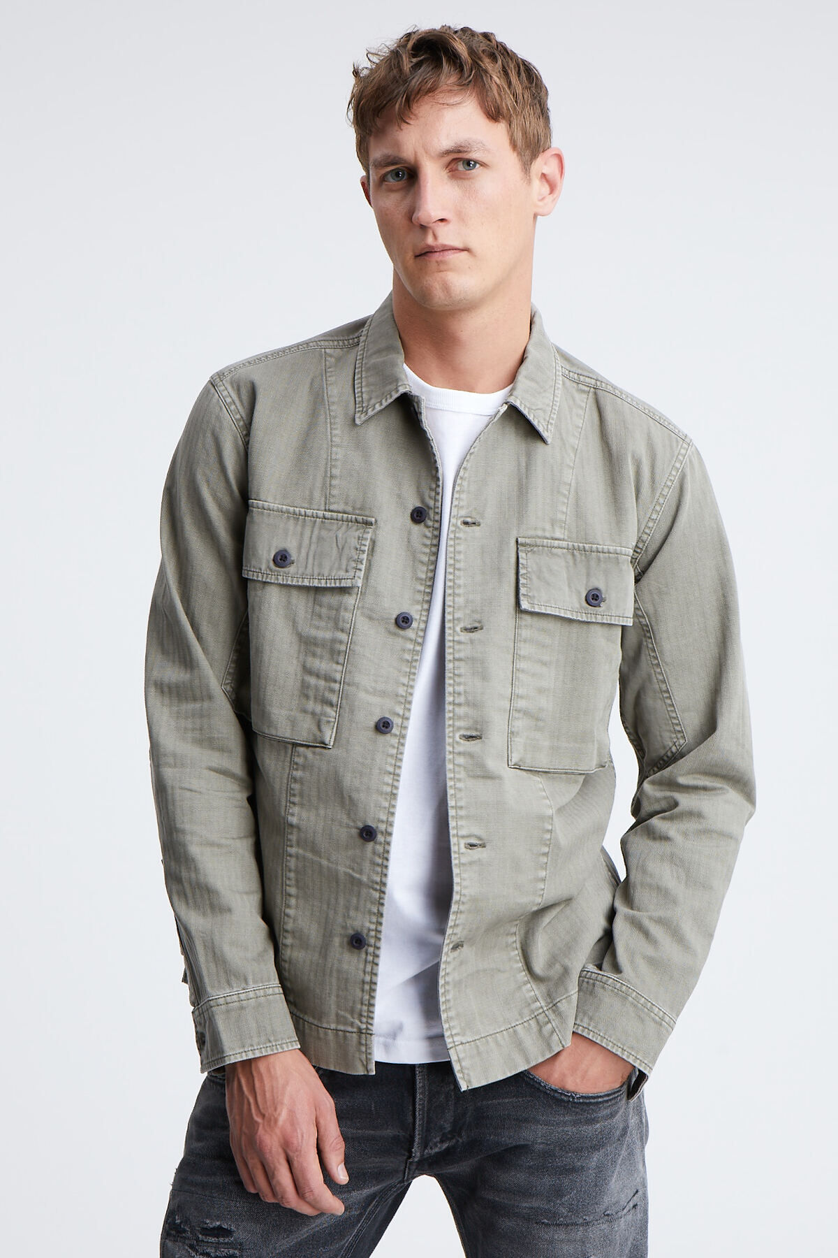 BOSTON SHIRT Cotton Herringbone - Oversized Fit