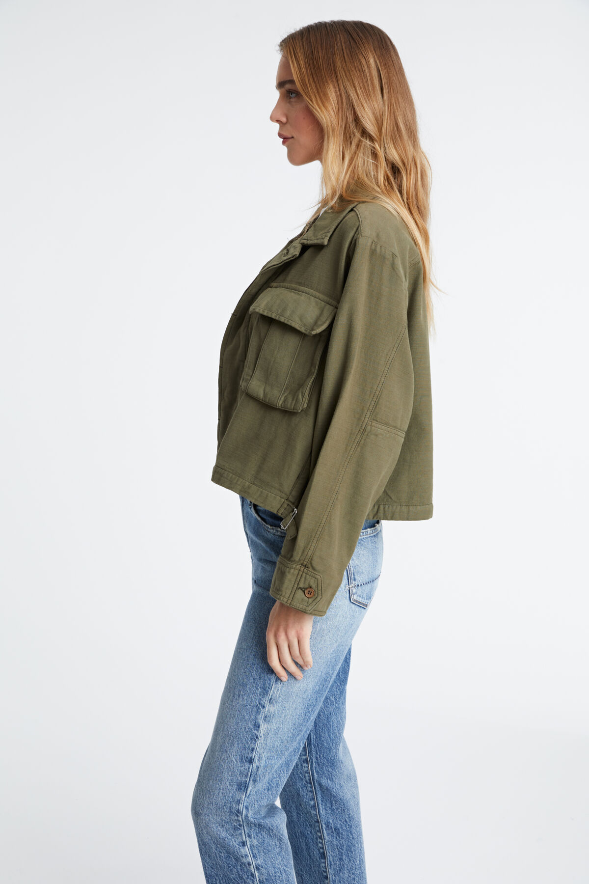 GIBBONS JACKET Cropped seasonal jacket - Relaxed Fit