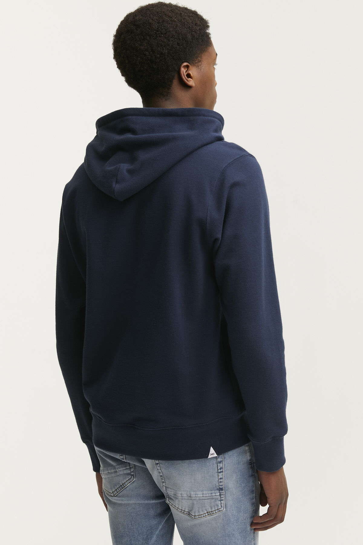 DENHAM INDIGO MONSTER HOODY Soft Cotton Fleece - Regular Fit