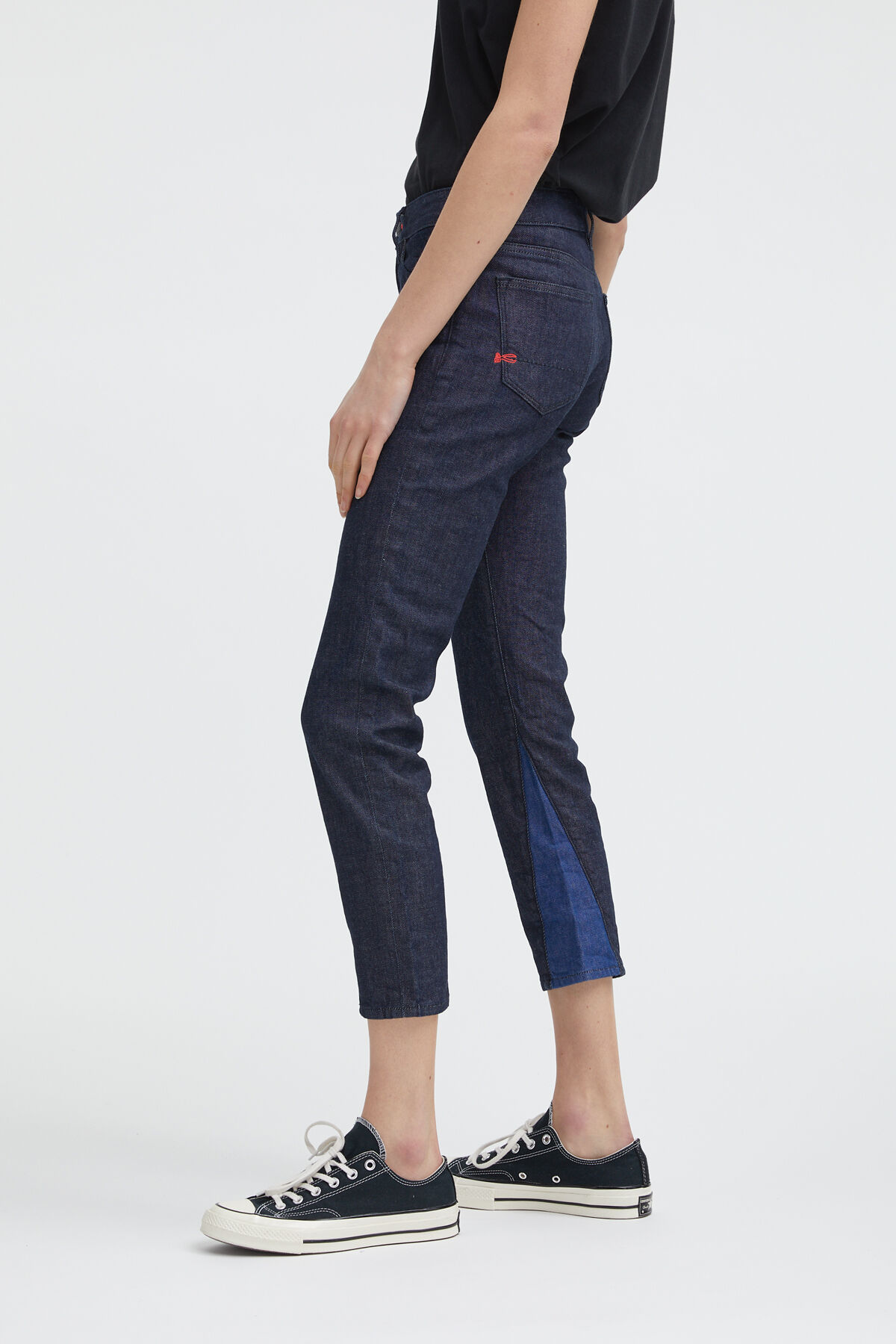 LIZ ANKLE 90MIX Eco-Friendly Indigo Denim - Mid-rise, Slim Fit