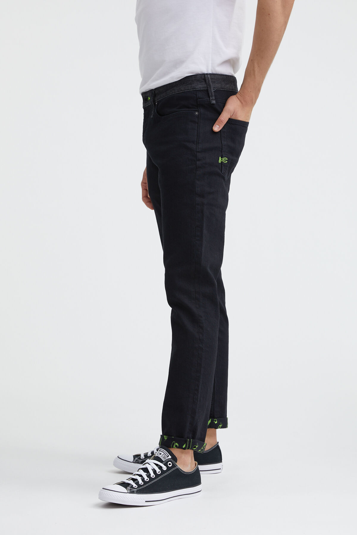 RAZOR 95MIX Black sustainable denim - Slim Fit
