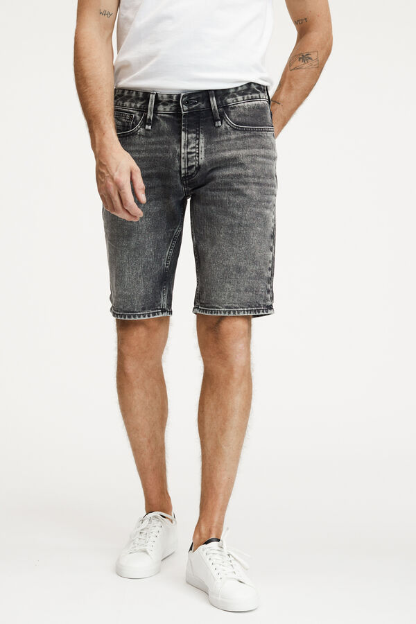 RAZOR SHORT WASHED BLACK DENIM