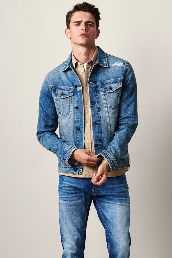 AMSTERDAM POCKET Five-Year Indigo Denim - Slim Fit