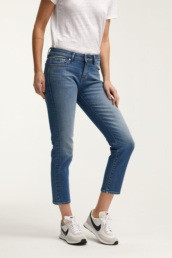 LIZ ANKLE Blue Authentic Denim - Straight Fit
