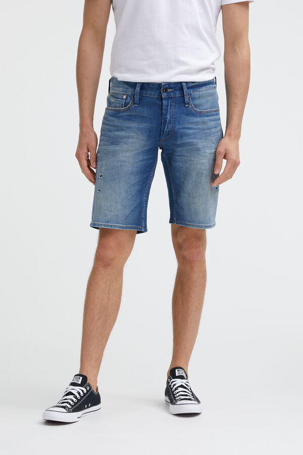 HAMMER SHORT Hand Repaired Denim - Athletic Fit