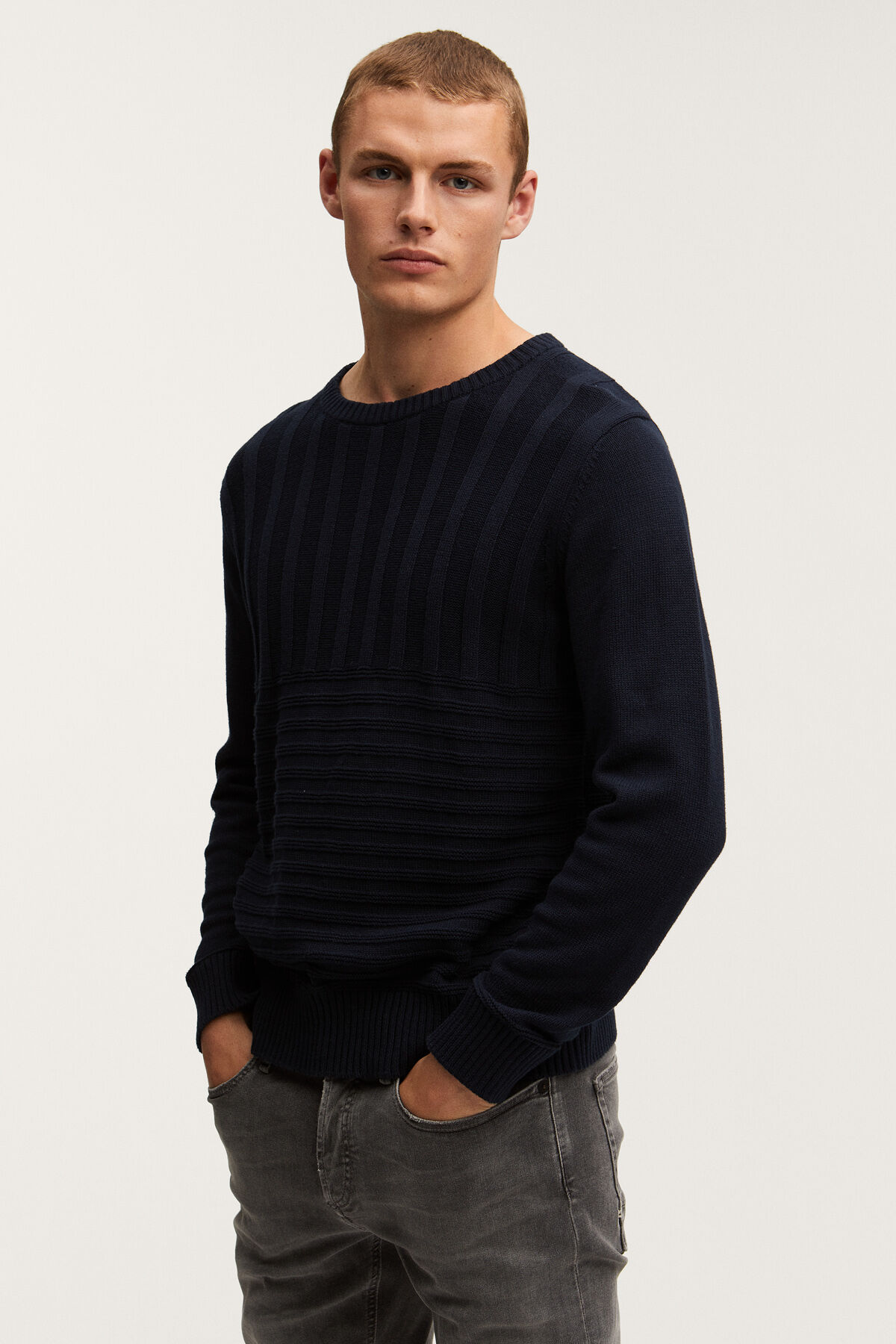 CAMPBELL CABLE KNIT Thick Cotton Knit - Regular Fit