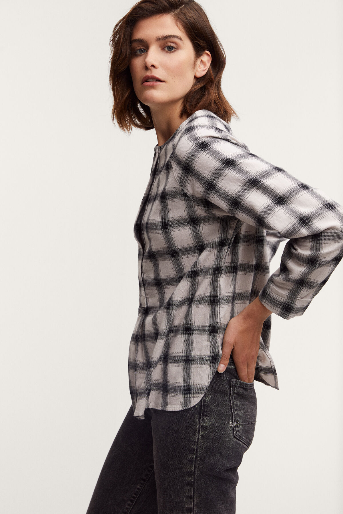 HAILEY TOP Check Cotton - Regular Fit