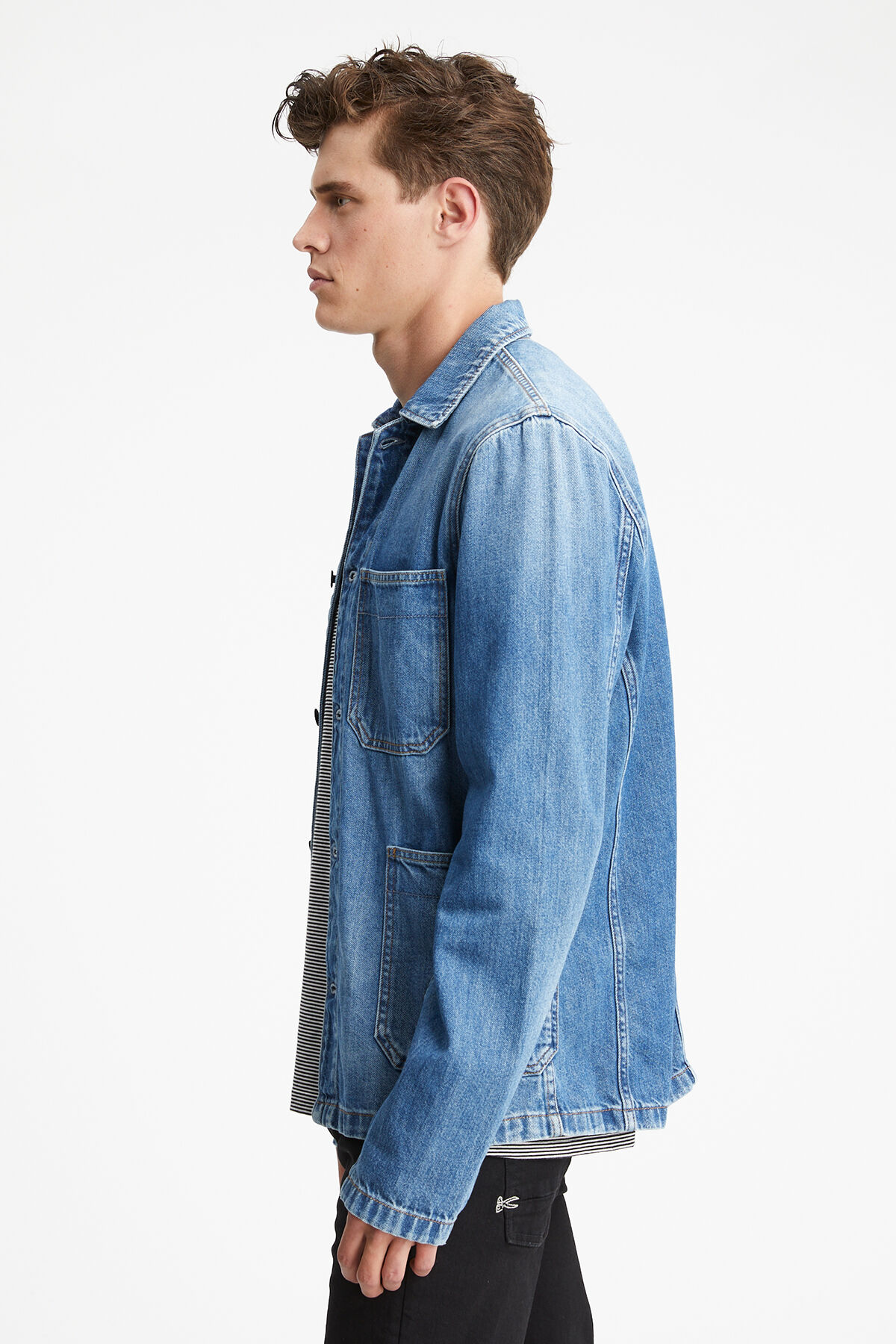 MAO JACKET True Blue Denim - Slim Fit