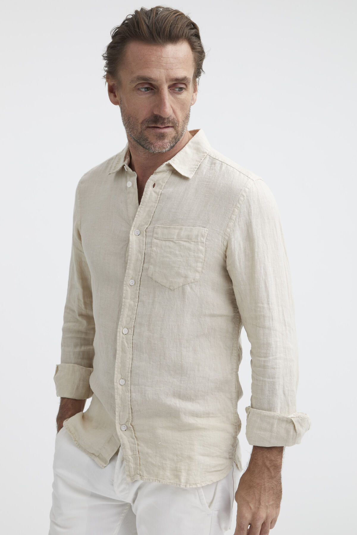 HARRISON SHIRT Pure Linen -  Slim Fit