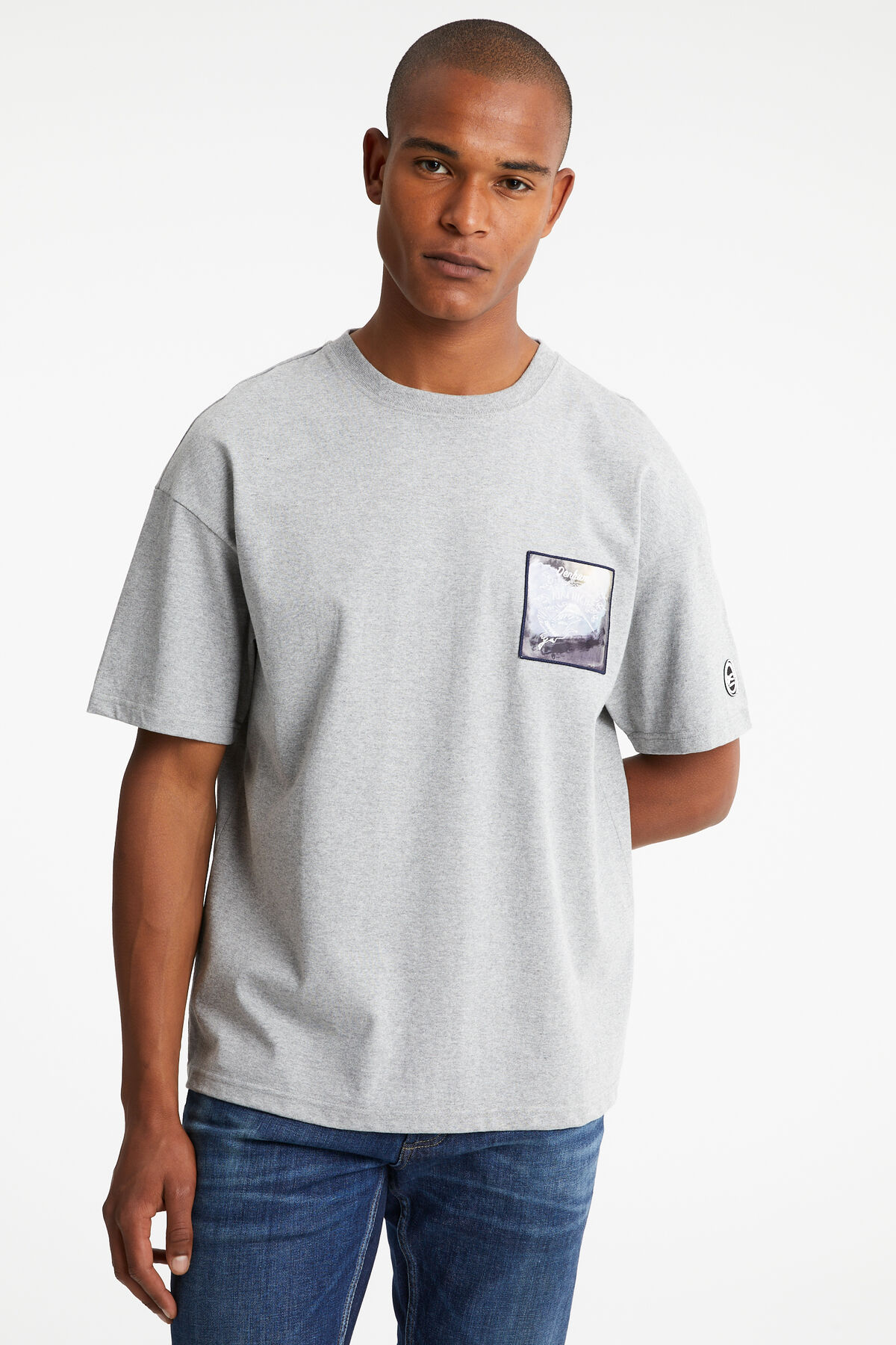 TIMBER TEE Japanese Suka embroidery - Boxy Fit